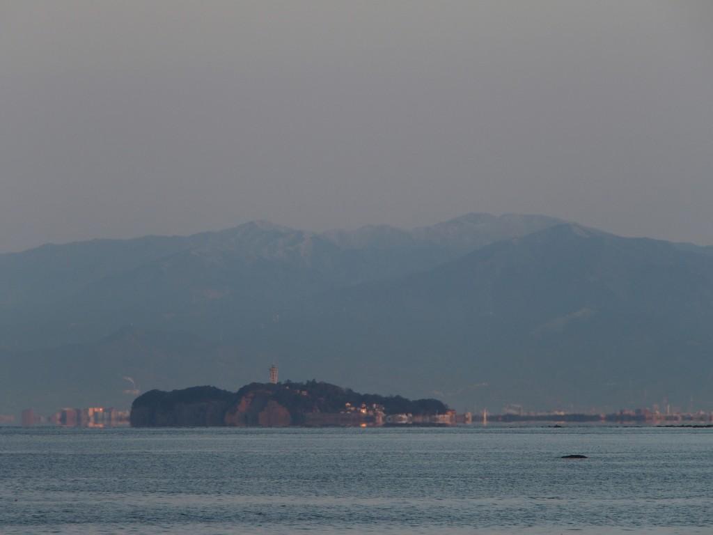 蜃気楼の江の島
