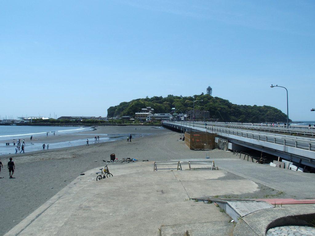 江ノ島大橋とトンボロ