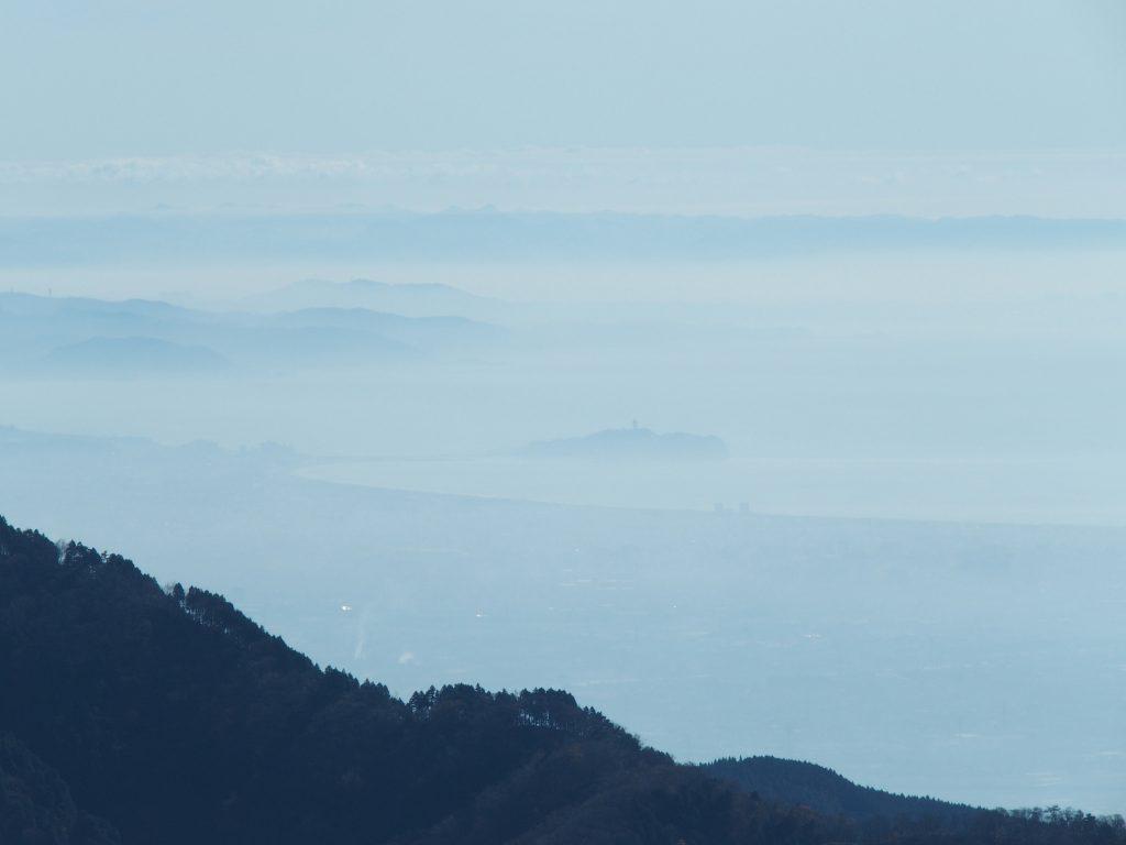 江の島と三浦半島、房総半島