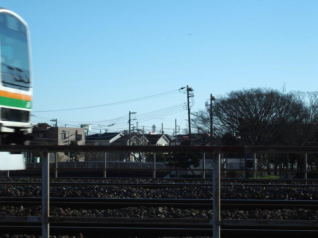東海道線とシーキャンドル