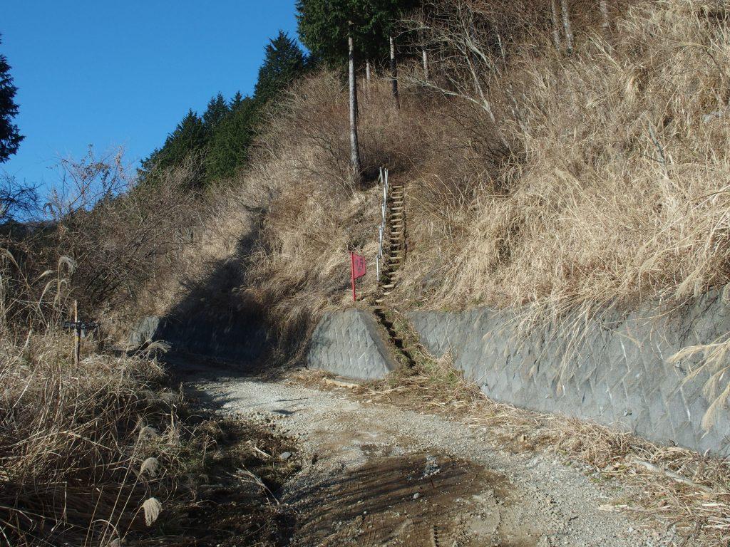 林道を歩き再び登山口