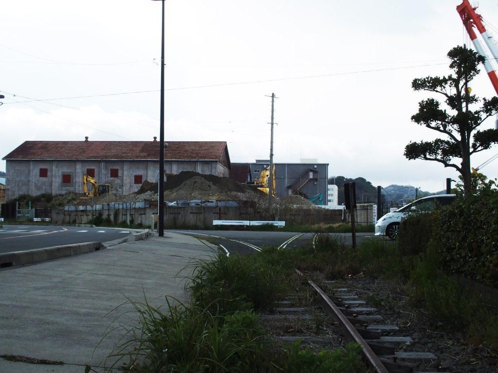 倉庫と引込線