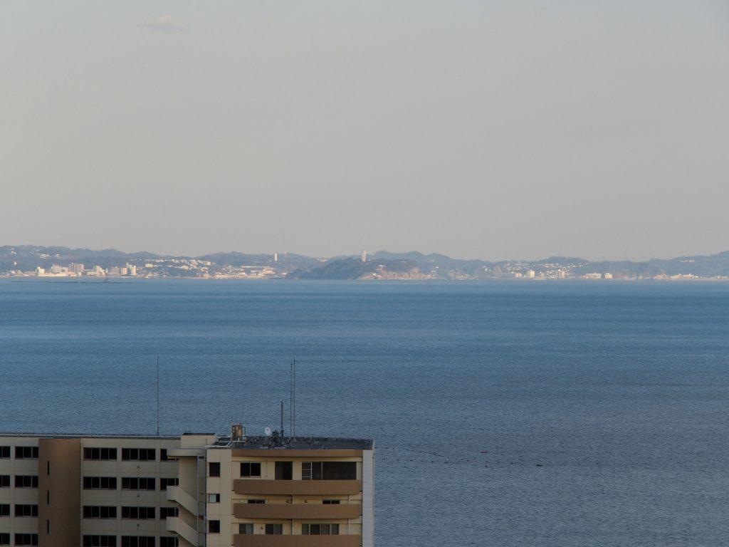 江の島も遠望できる