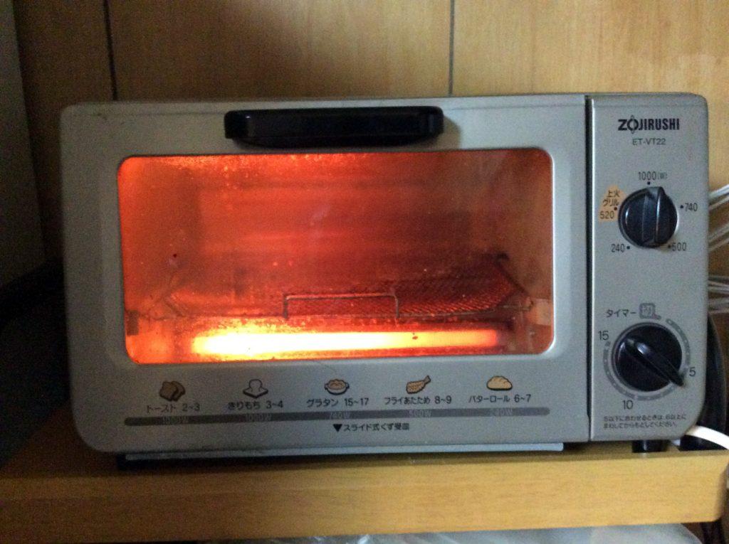 トースターを温める