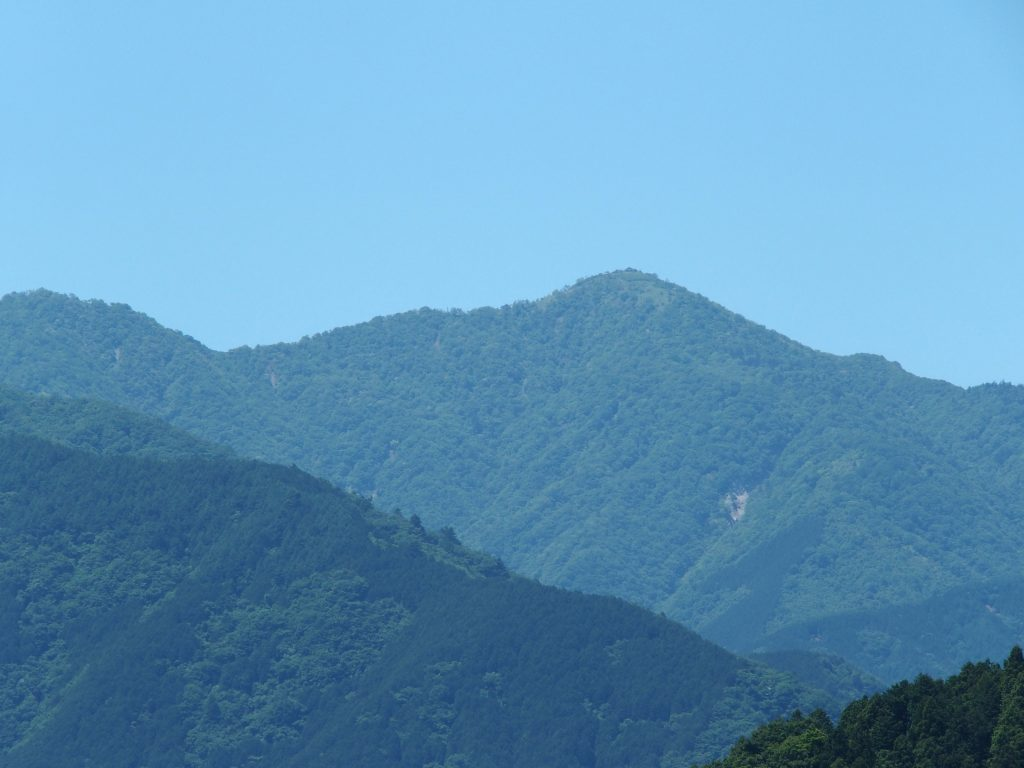 山頂の蛭ヶ岳山荘も見える