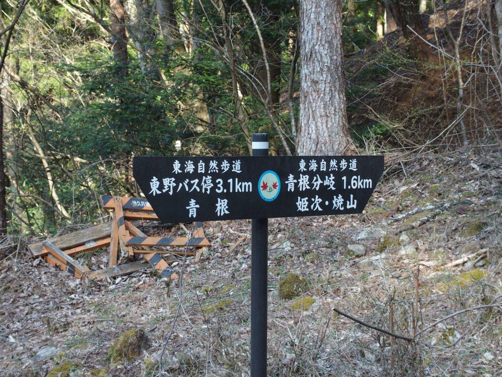 登山道への指導標