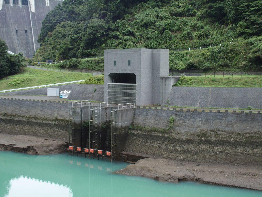 取水口全体が見えるかは水位次第