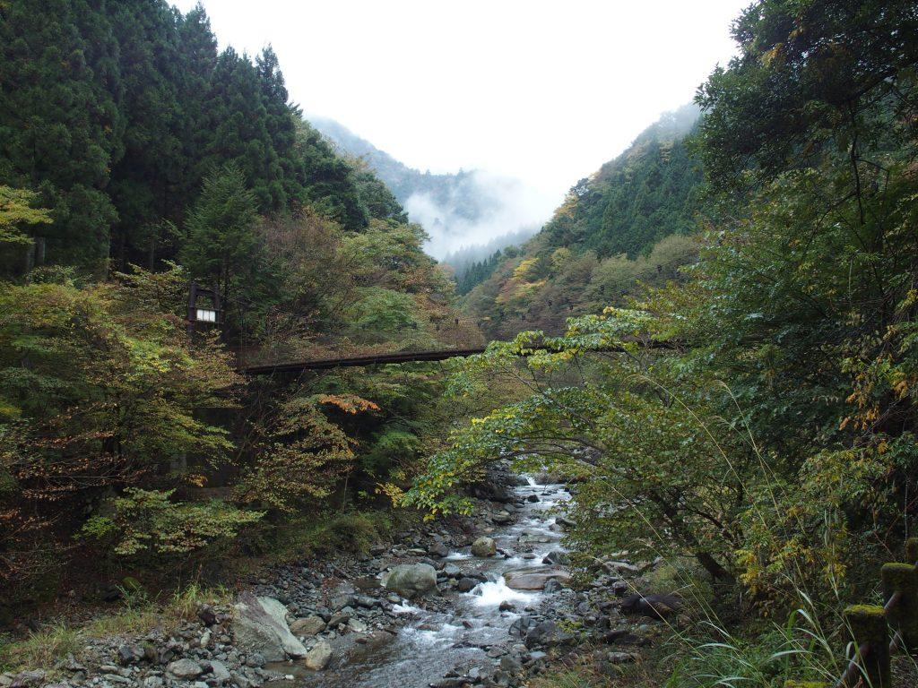 本谷川に架かるつり橋