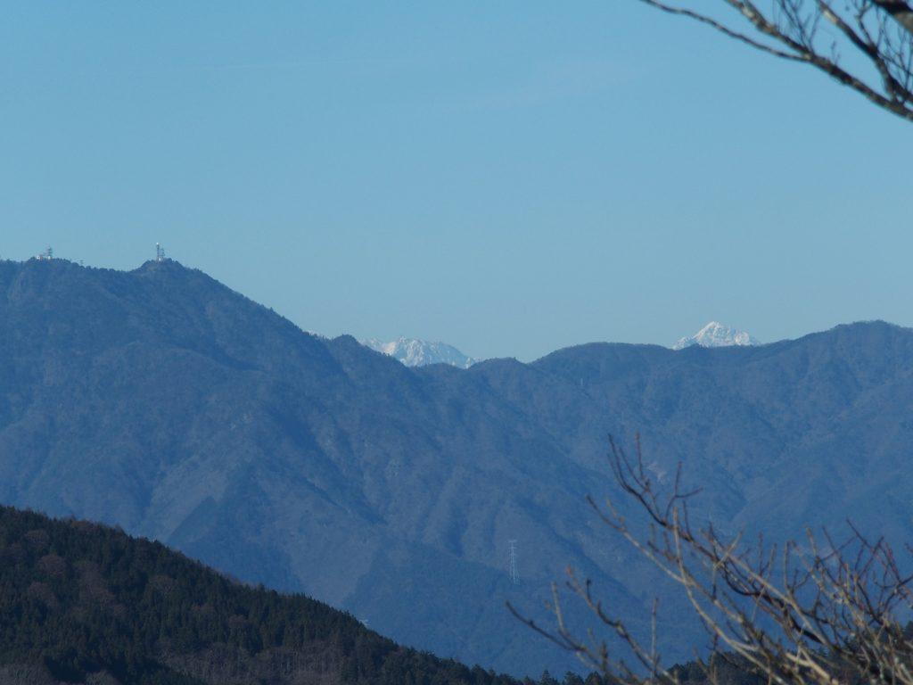 八ヶ岳方面の山並み