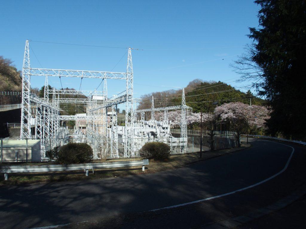 発電所の全景