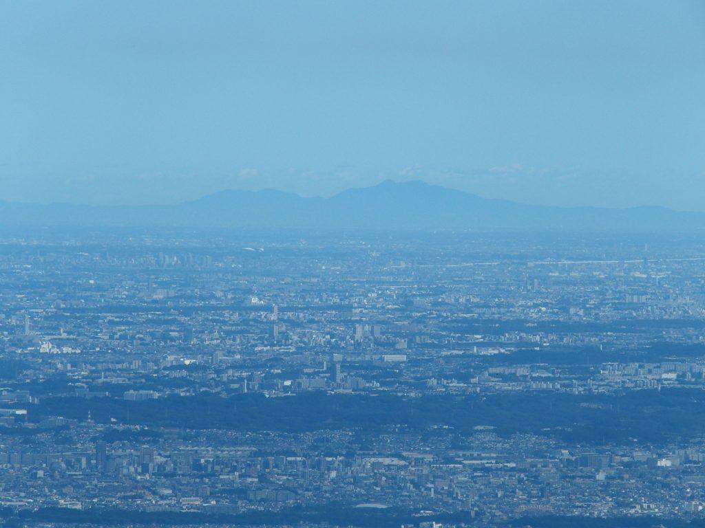 関東平野、筑波山