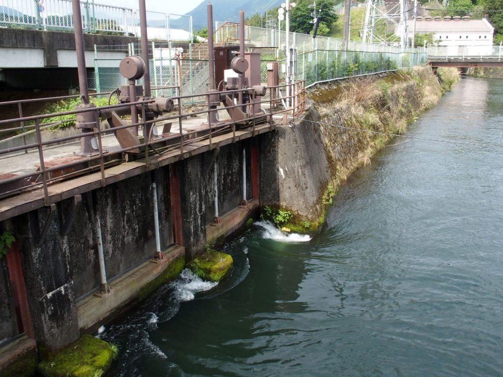 文命用水への分水地点