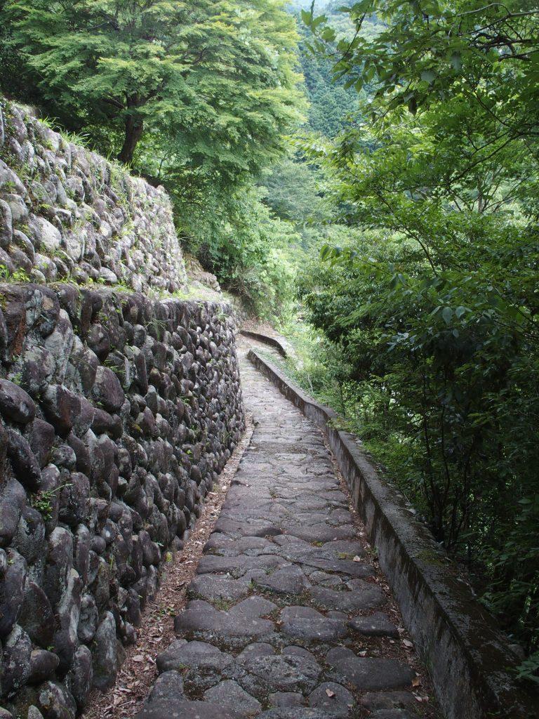 取水口に続く階段