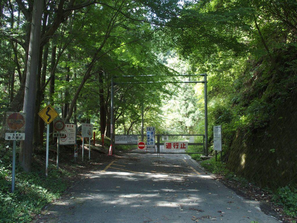寄大橋右岸からの林道は玄倉まで続いている