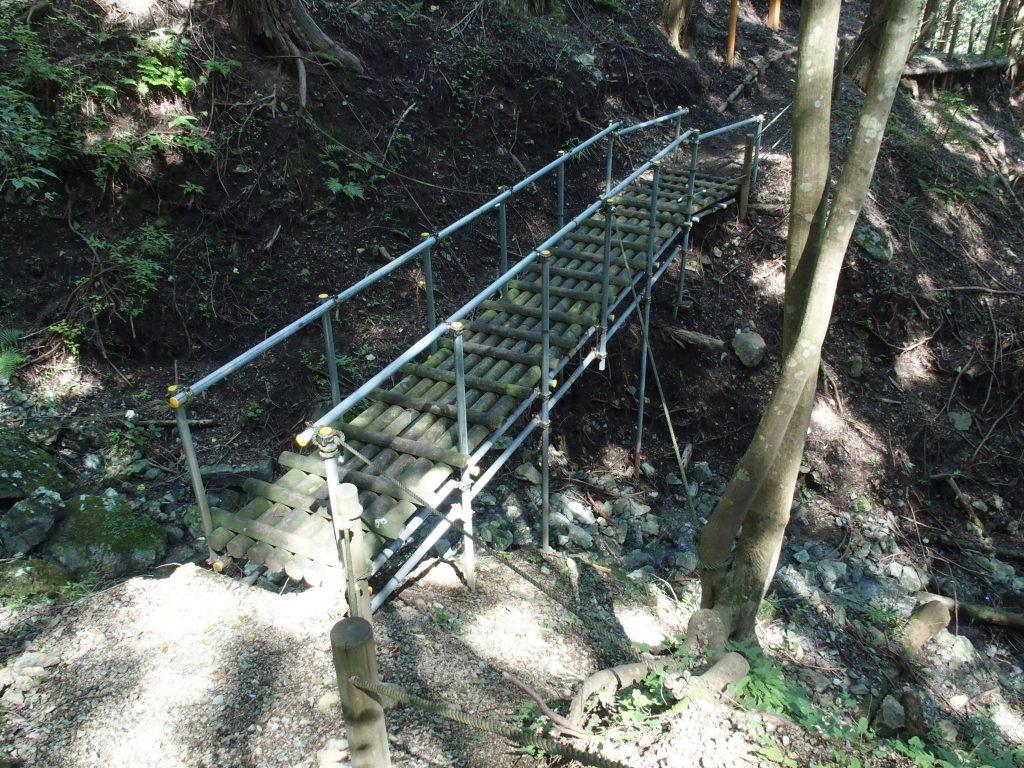 沢には渡りやすい橋が架けられている