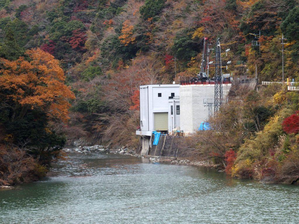 紅葉の玄倉第1発電所