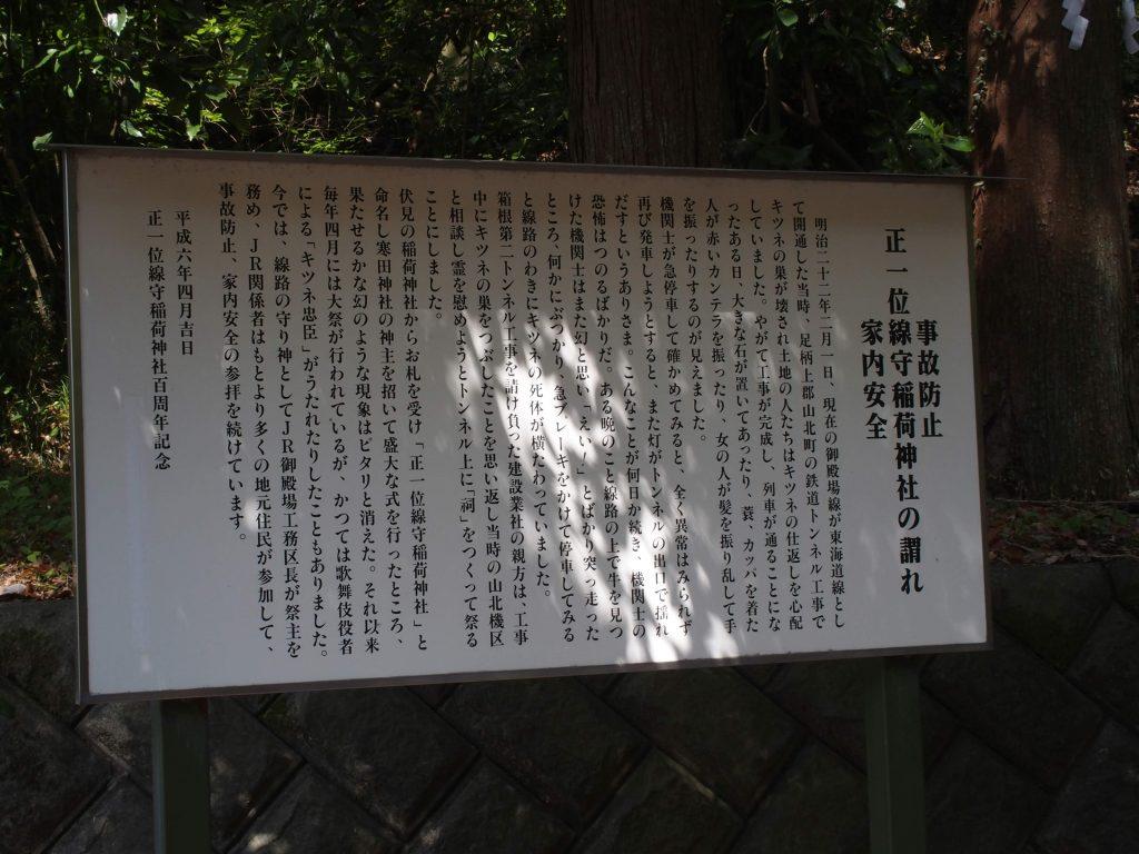 線守稲荷神社の謂われ